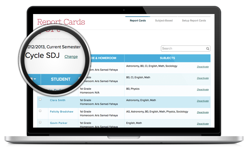 Student Report Card and Grade Management System
